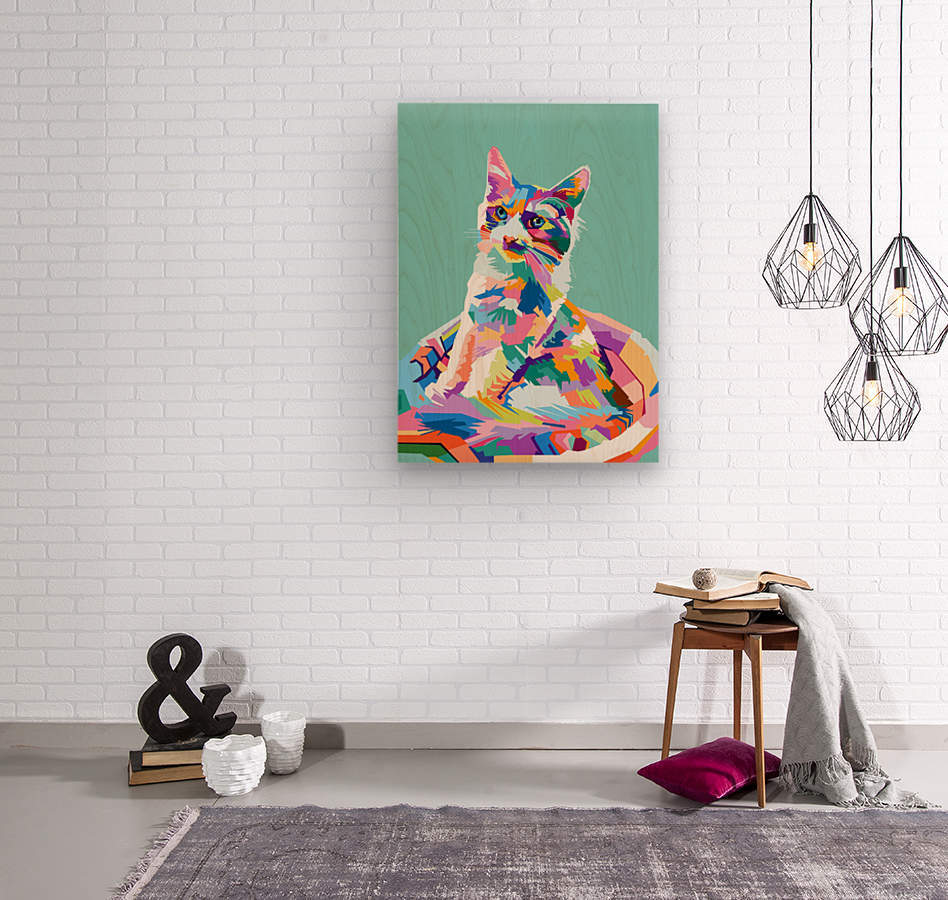 cats  Wood print