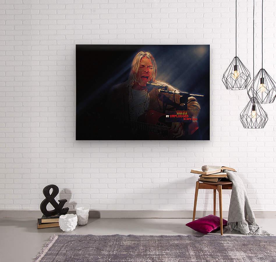 Kurt Cobain Live MTV Unplugged  Wood print
