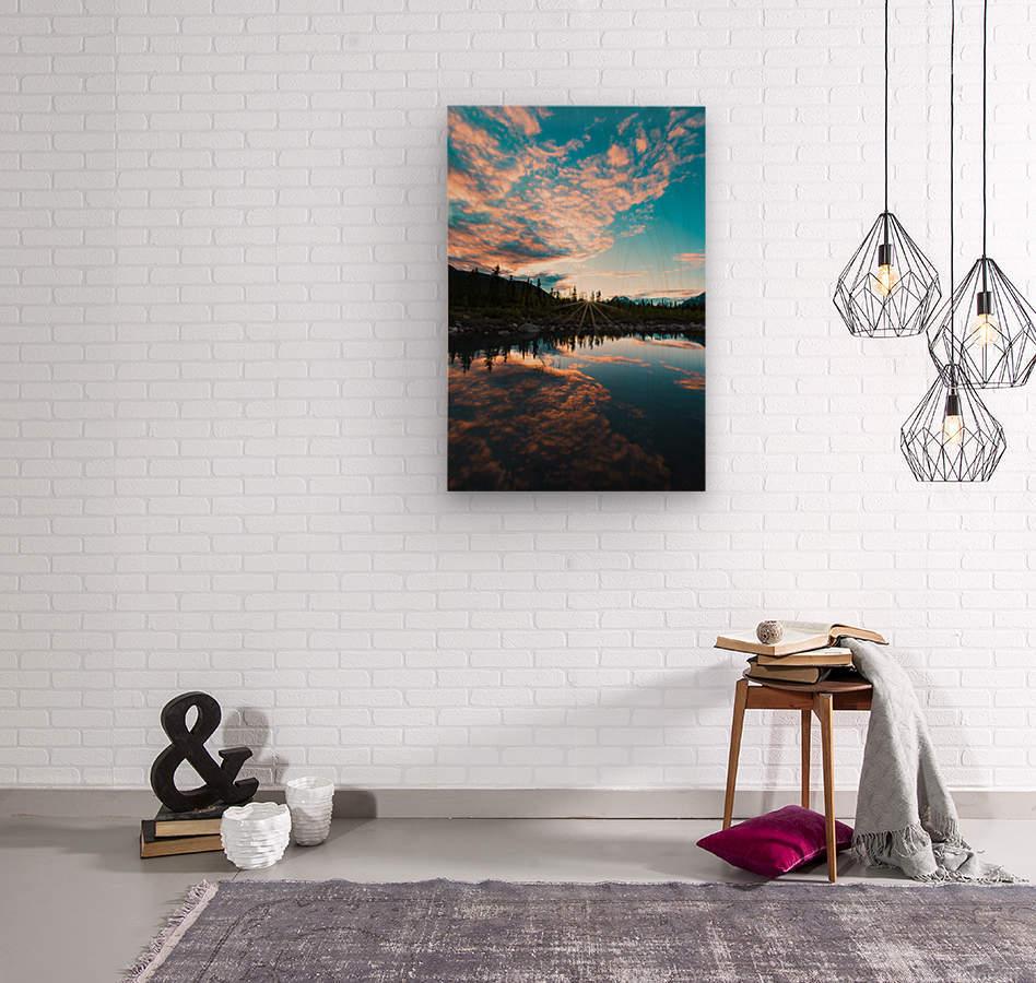 Sunset Reflection  Wood print