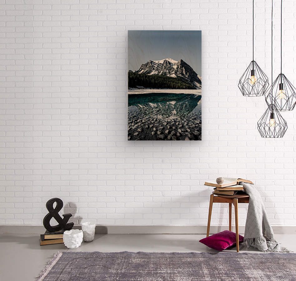 Lake Louise Reflection  Impression sur bois