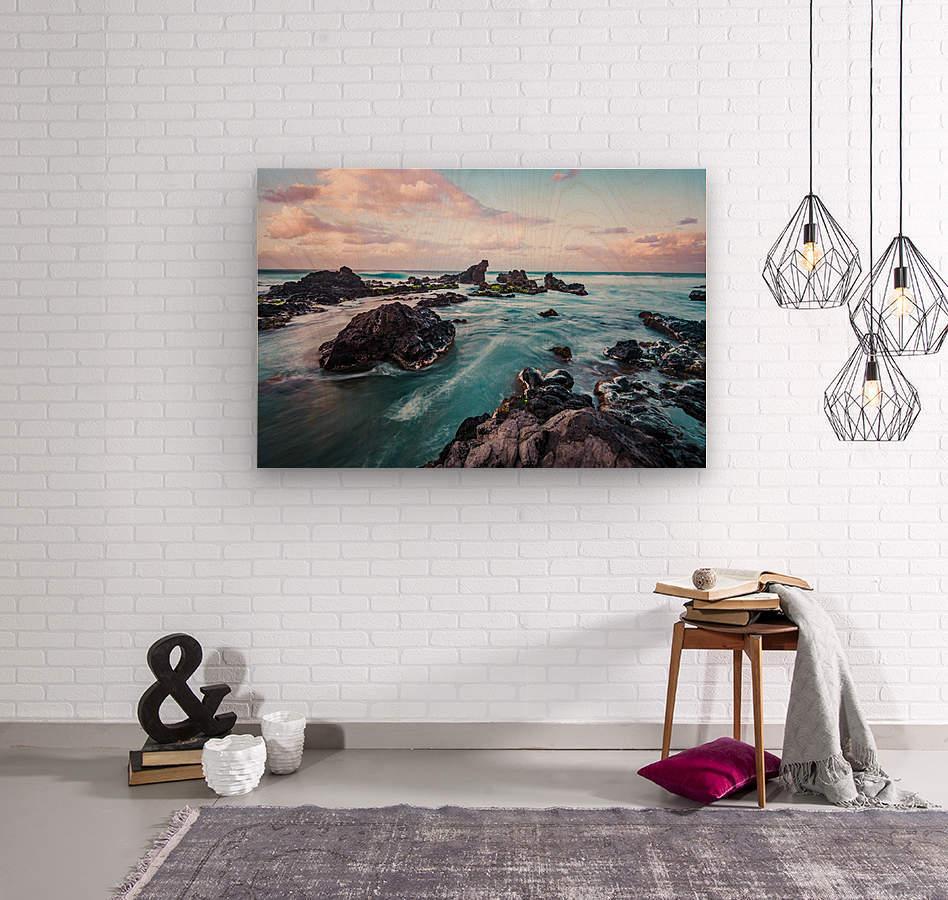 Pastel Waters  Wood print