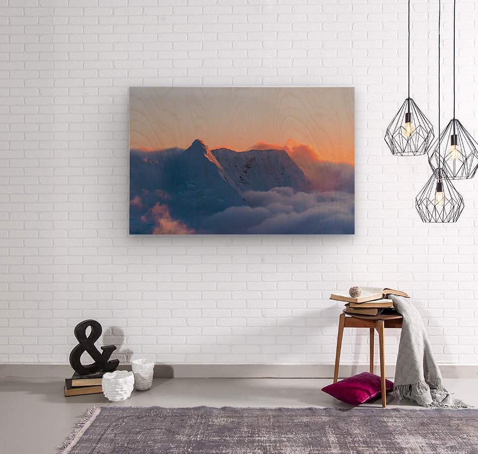 Pastel Peak  Wood print