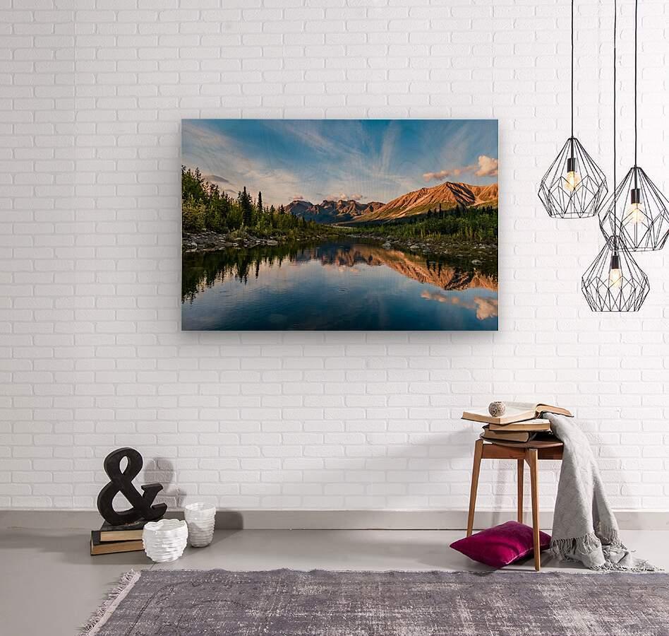 Alaskan Reflection  Wood print
