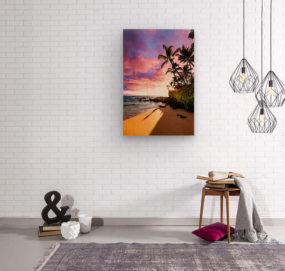 Secret Beach  Wood print