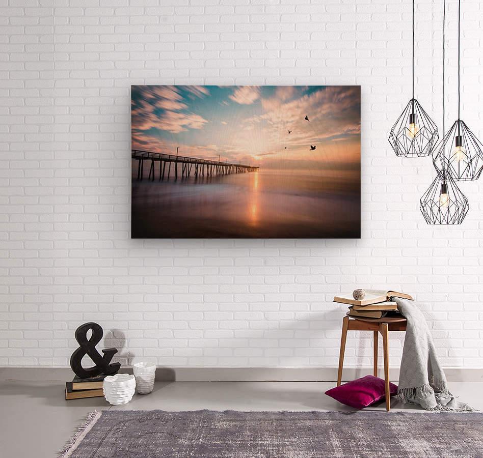 VA Beach Sunrise  Wood print