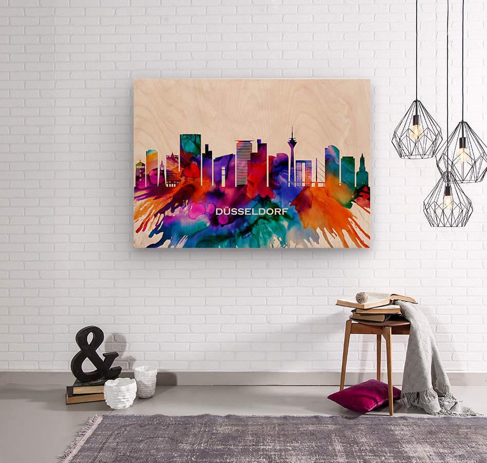 Dusseldorf Skyline  Wood print
