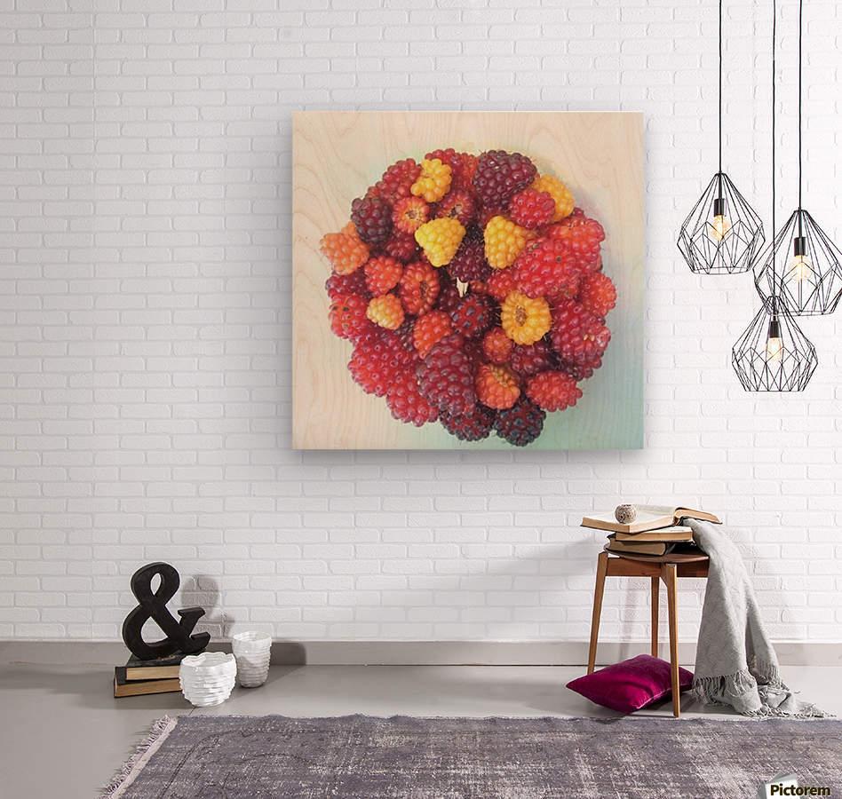 Wild Berries  Wood print