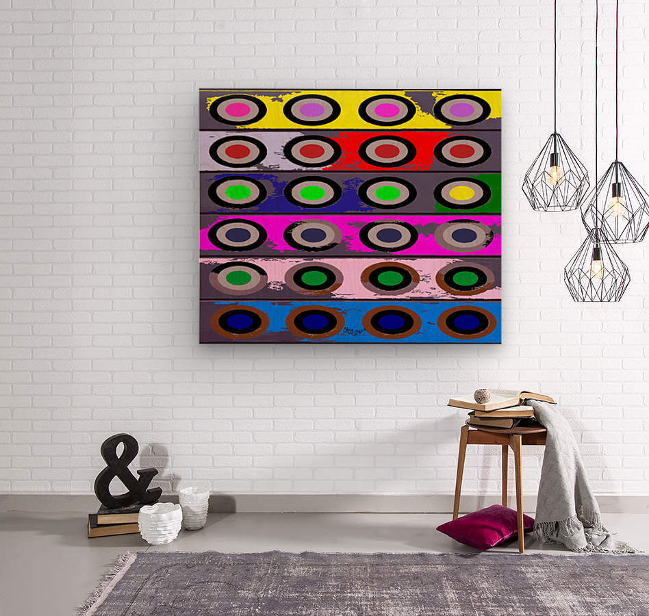 Circle Crazy by dePace  Wood print