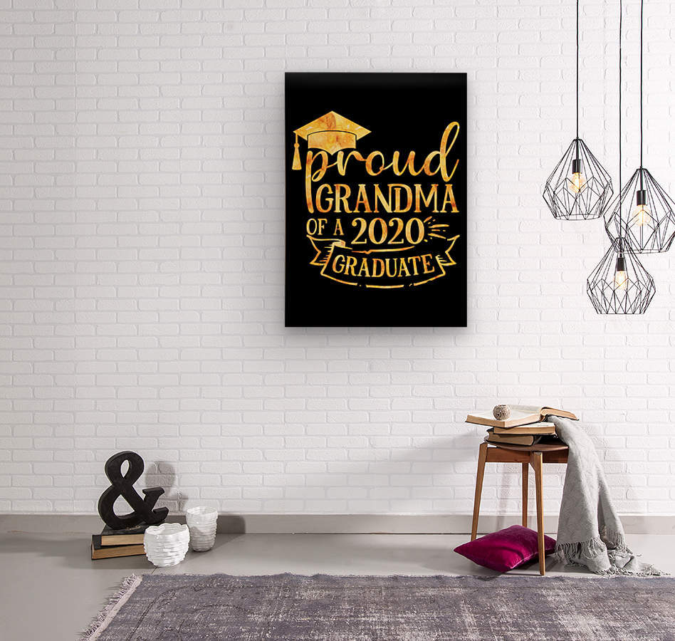 Proud Grandma of A 2020 Graduate  Wood print