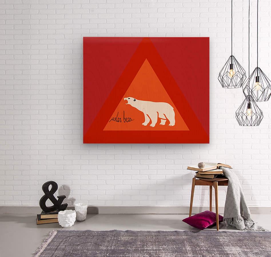 Polar Bear by dePace  Wood print