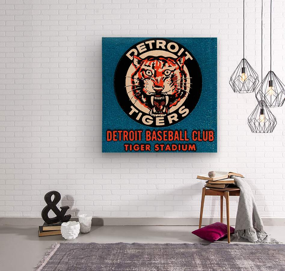 1963 Detroit Tigers Art   Wood print