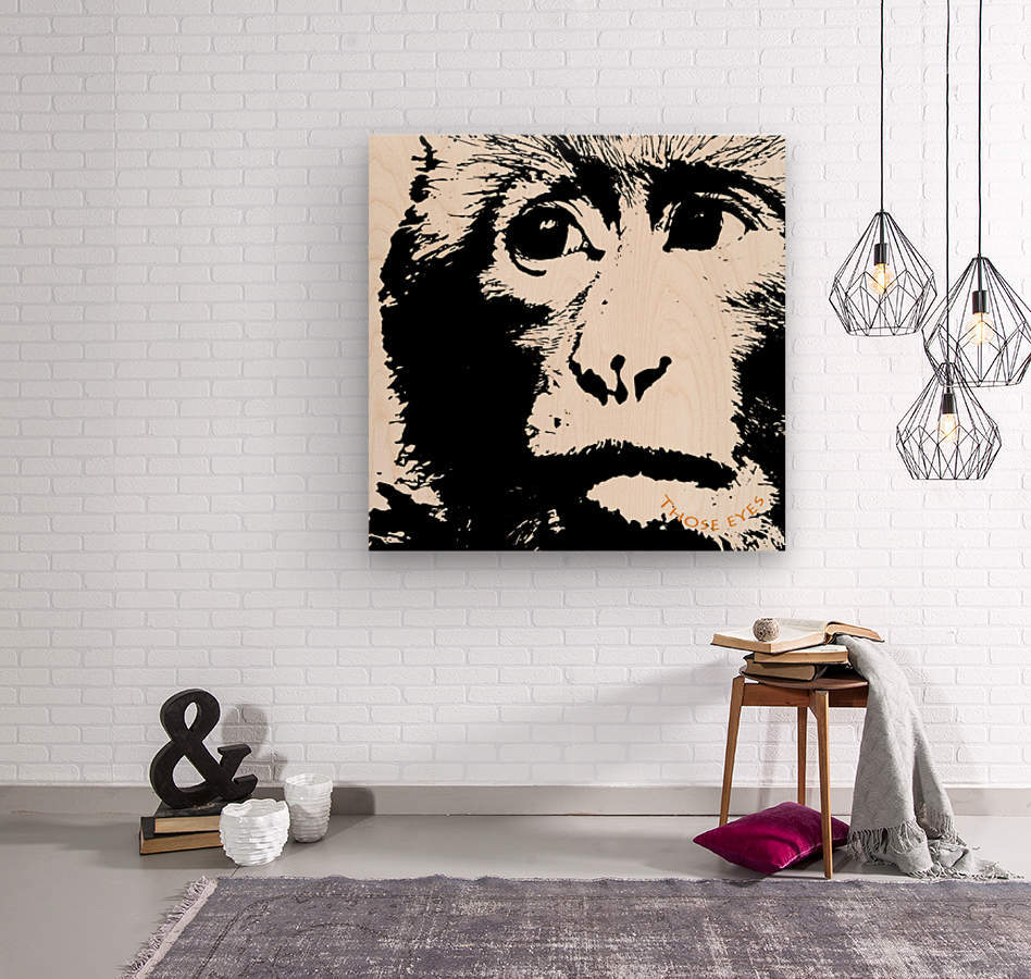 Those Eyes by dePace  Wood print
