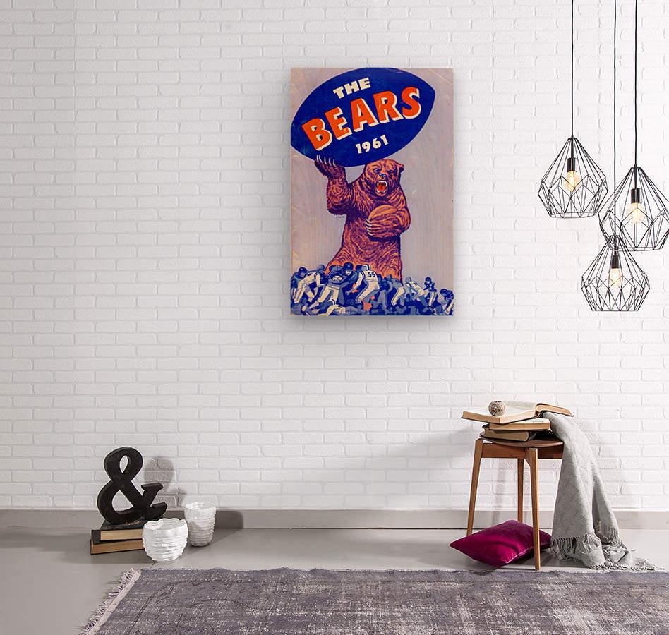 1961_National Football League_Chicago Bears_Row One Brand  Wood print