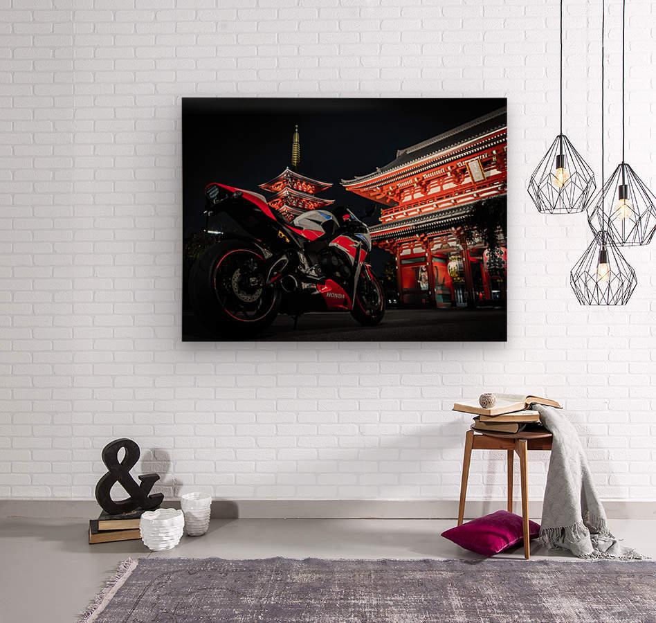 Honda At The Temple  Wood print