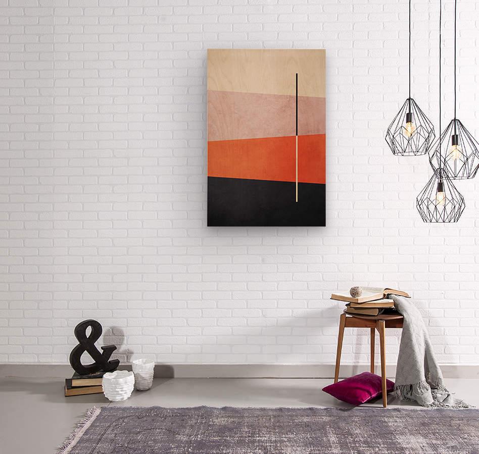 Shapes 06 - Abstract Geometric Art Print  Wood print