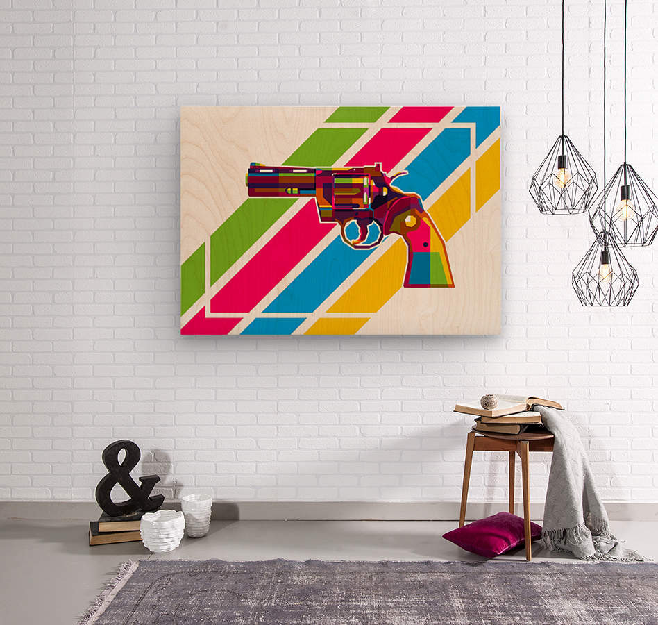 Python Handgun  Wood print