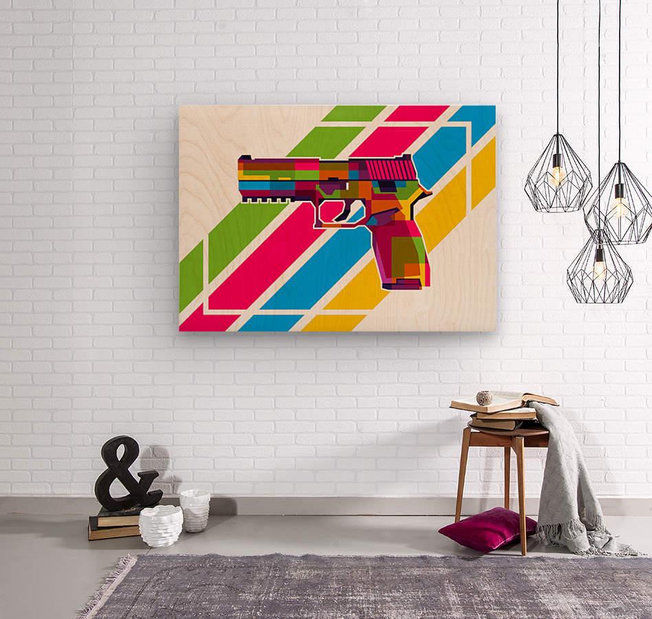 SIG P250 Handgun  Wood print
