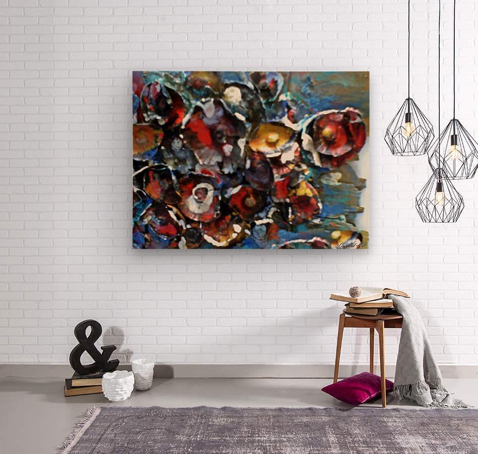 Flowers Mix  Wood print