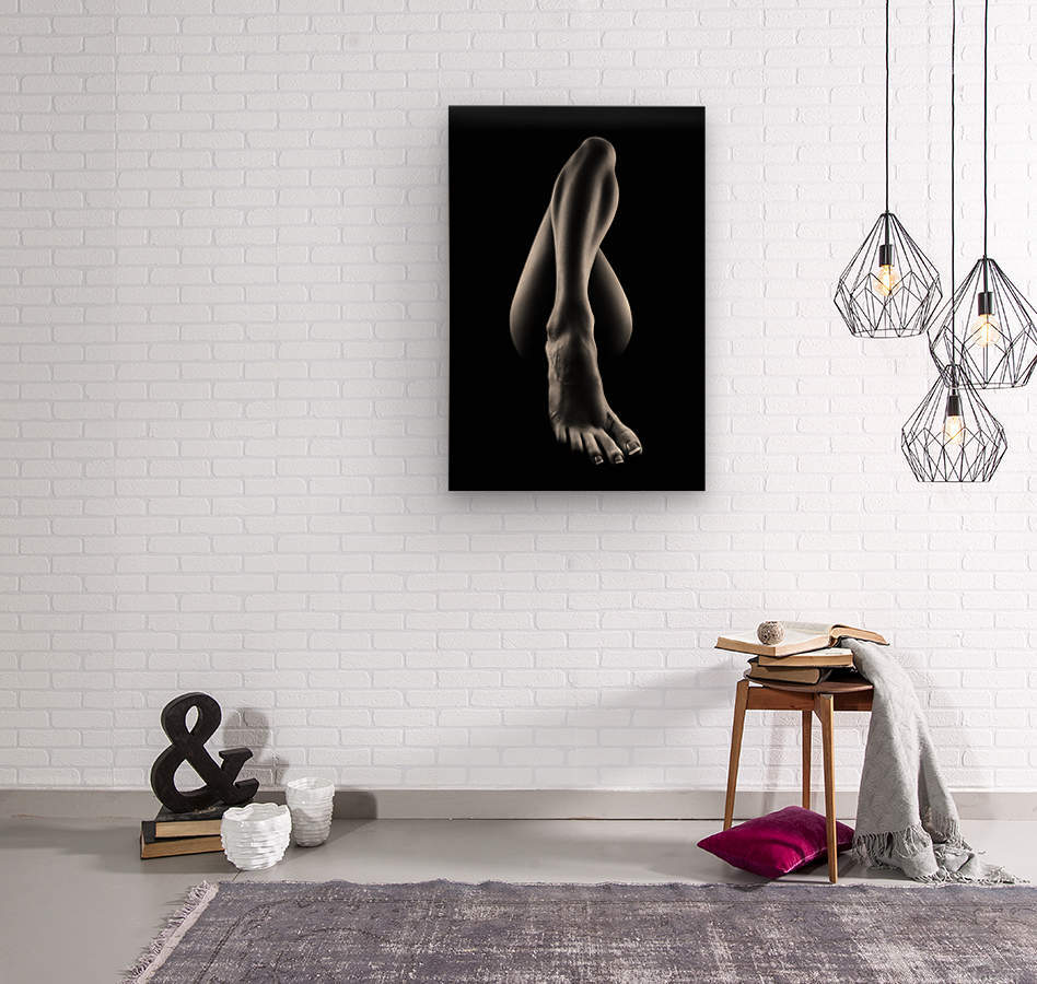 Nude woman bodyscape 56  Wood print
