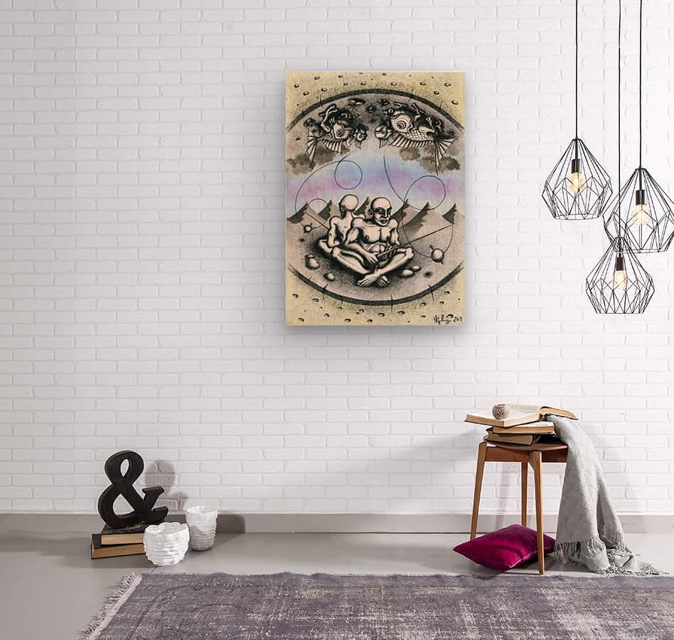 Fish_places  Wood print