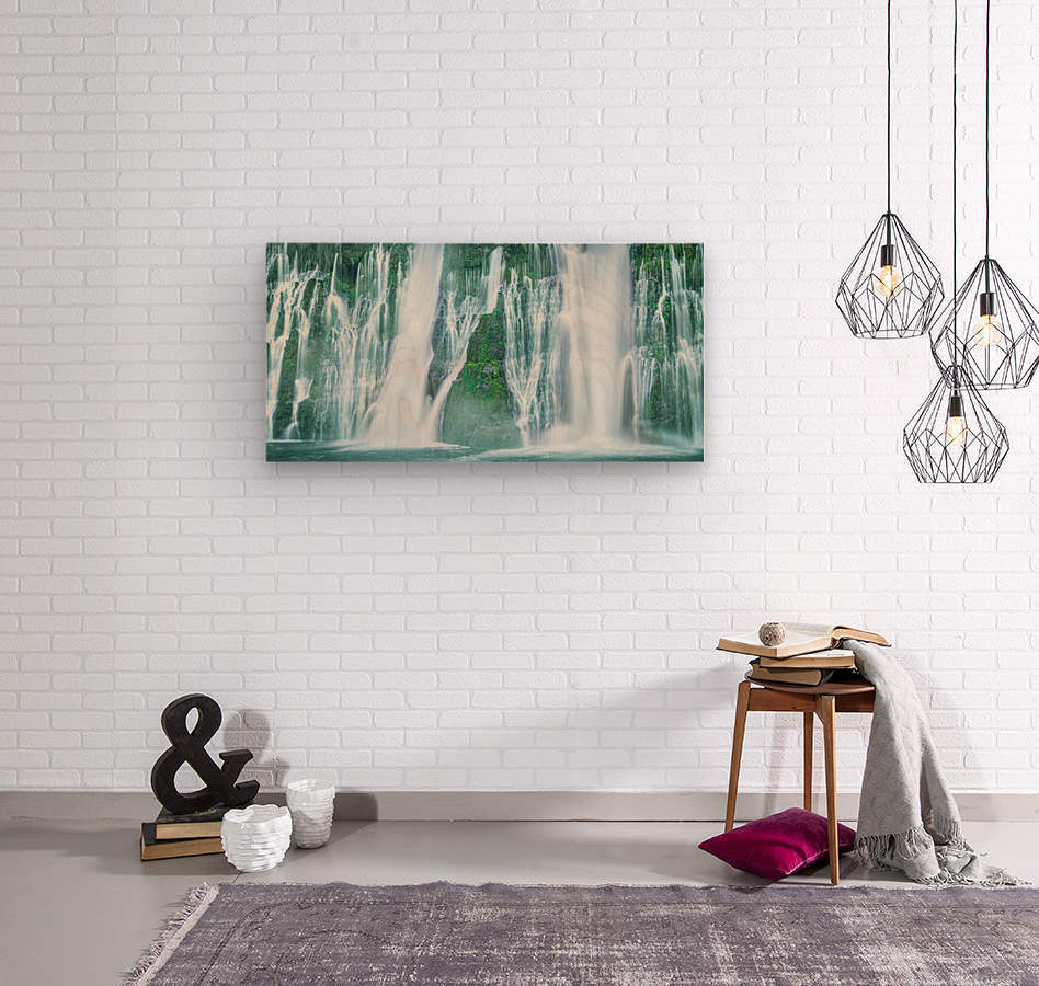The Flowing Wall  Wood print