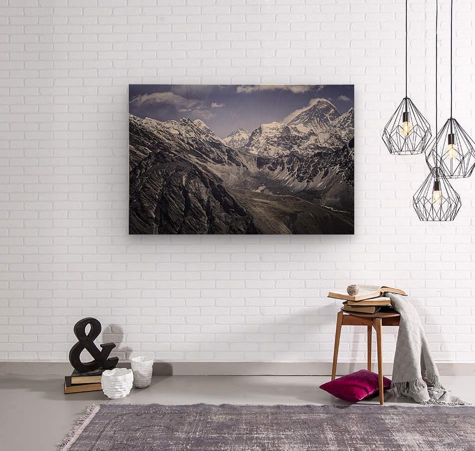 Everest  Wood print