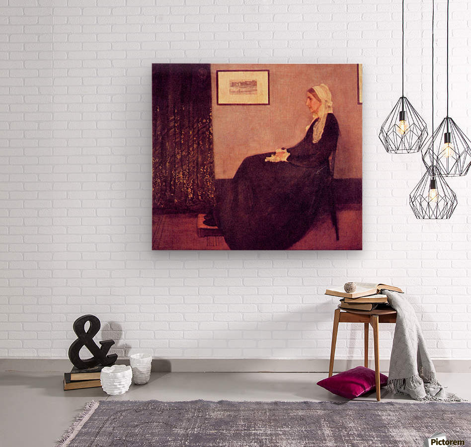 Whistlers Mother by James Abbot McNeill Whistler  Wood print