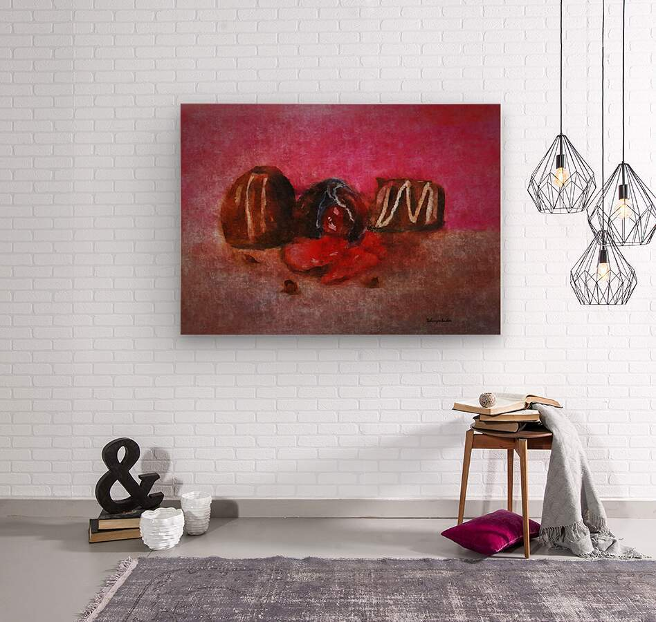 Chocolate Candy  Wood print
