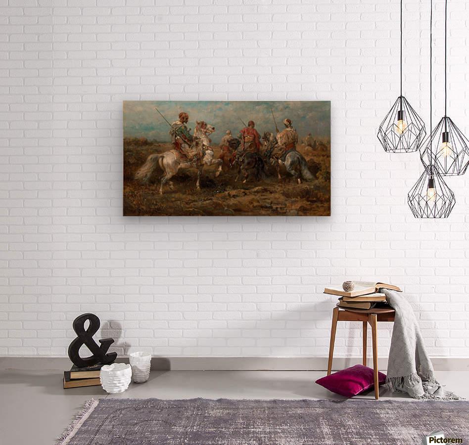 Arabische Reiter  Wood print