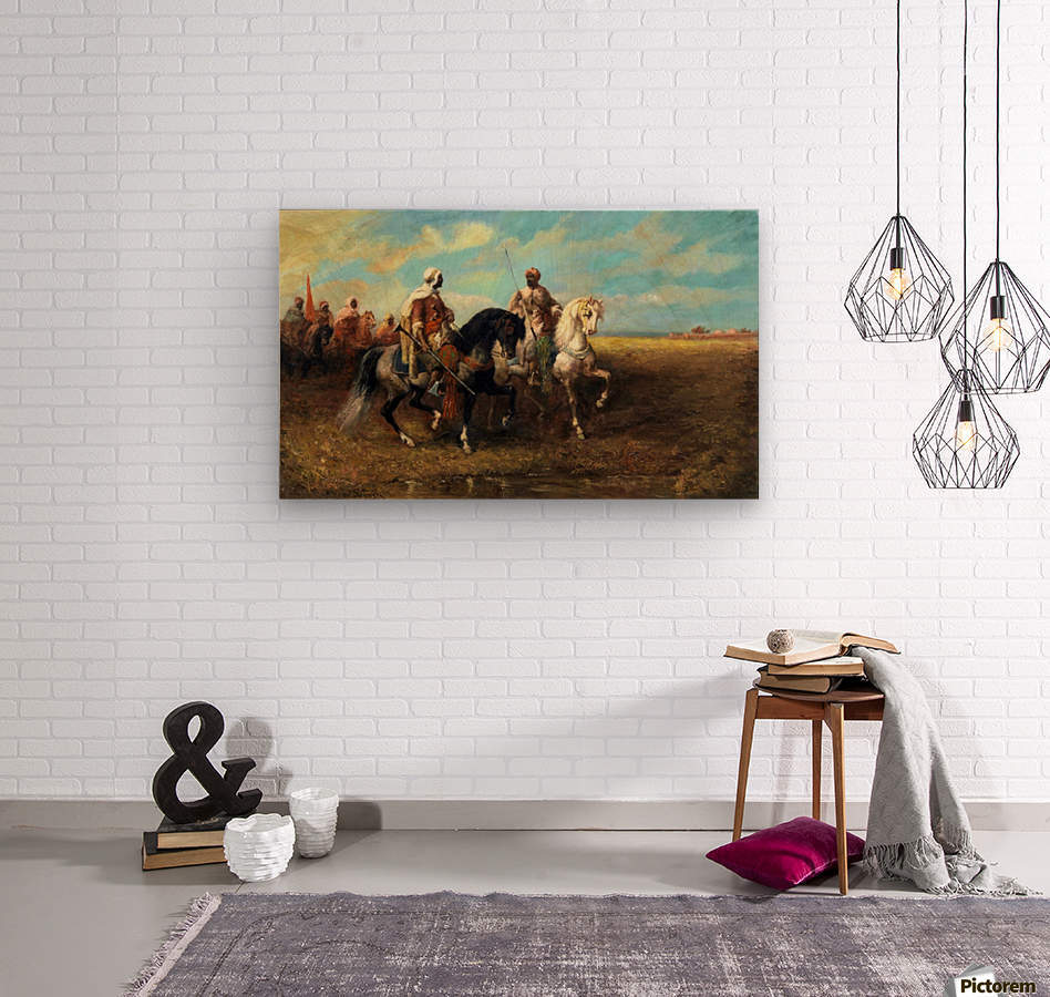 Arab Horsemen  Wood print