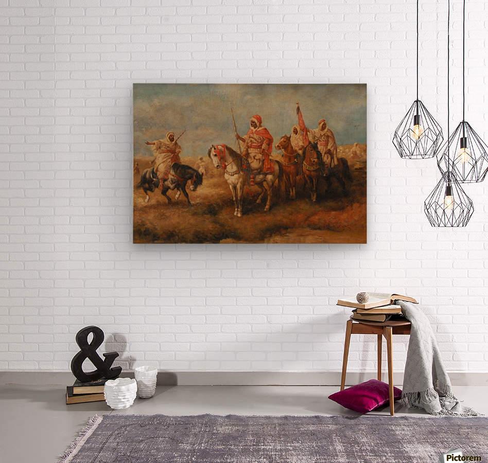 Bedouins on Horseback  Wood print
