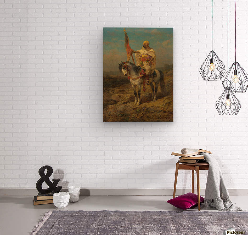 Arab rider  Wood print