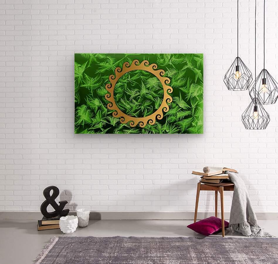 Elegant home decoration room design  Wood print