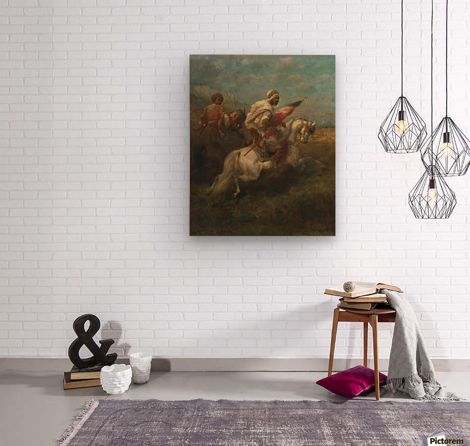 Arabs riding horses  Wood print