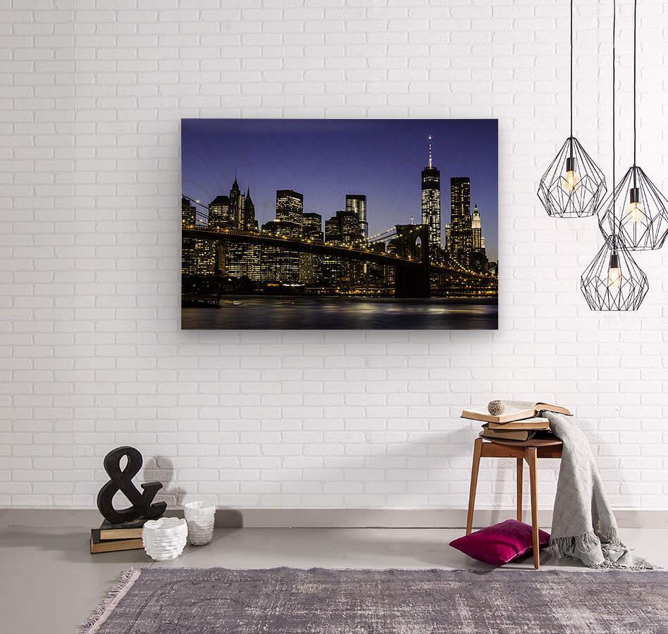 NY City Lights   Wood print