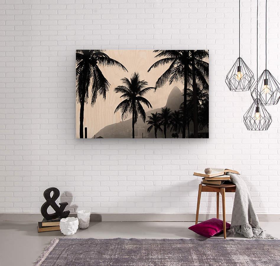 Ipanema B&W  Wood print