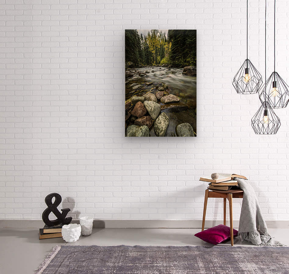 Rocky Mountain Stream II  Wood print