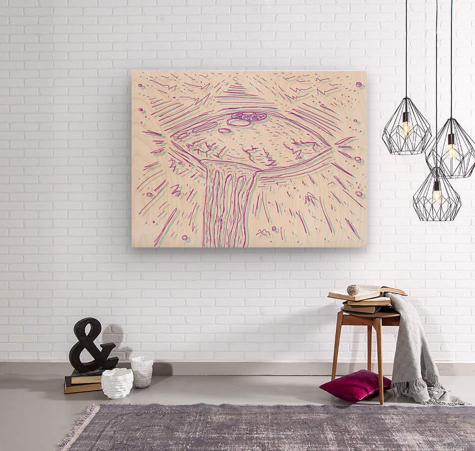 Cosmic Interferenss  Wood print