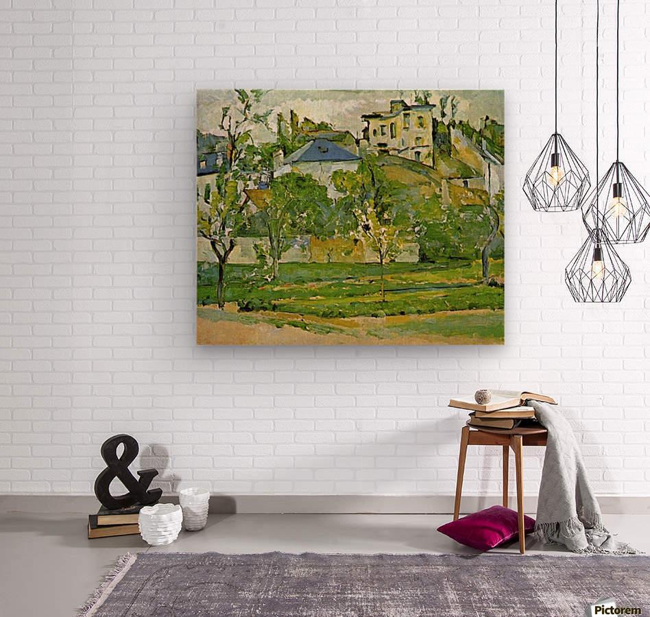 Fruit garden in Pontoise by Cezanne  Wood print
