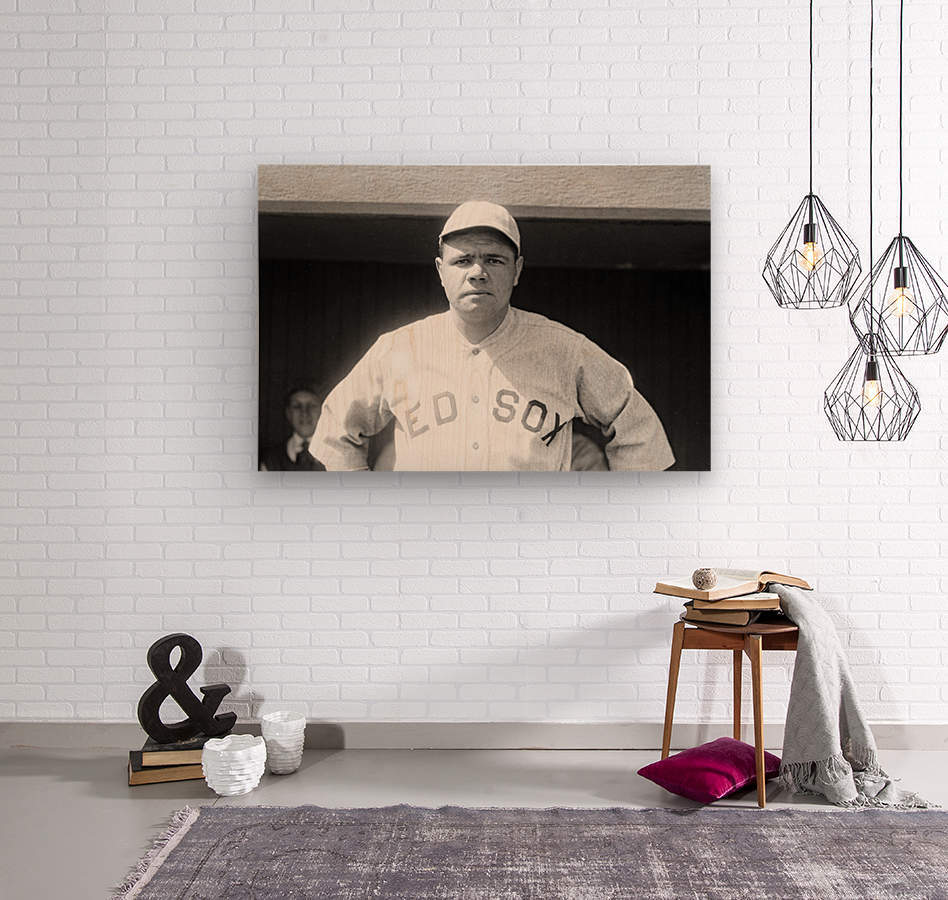 1919 Babe Ruth   Wood print