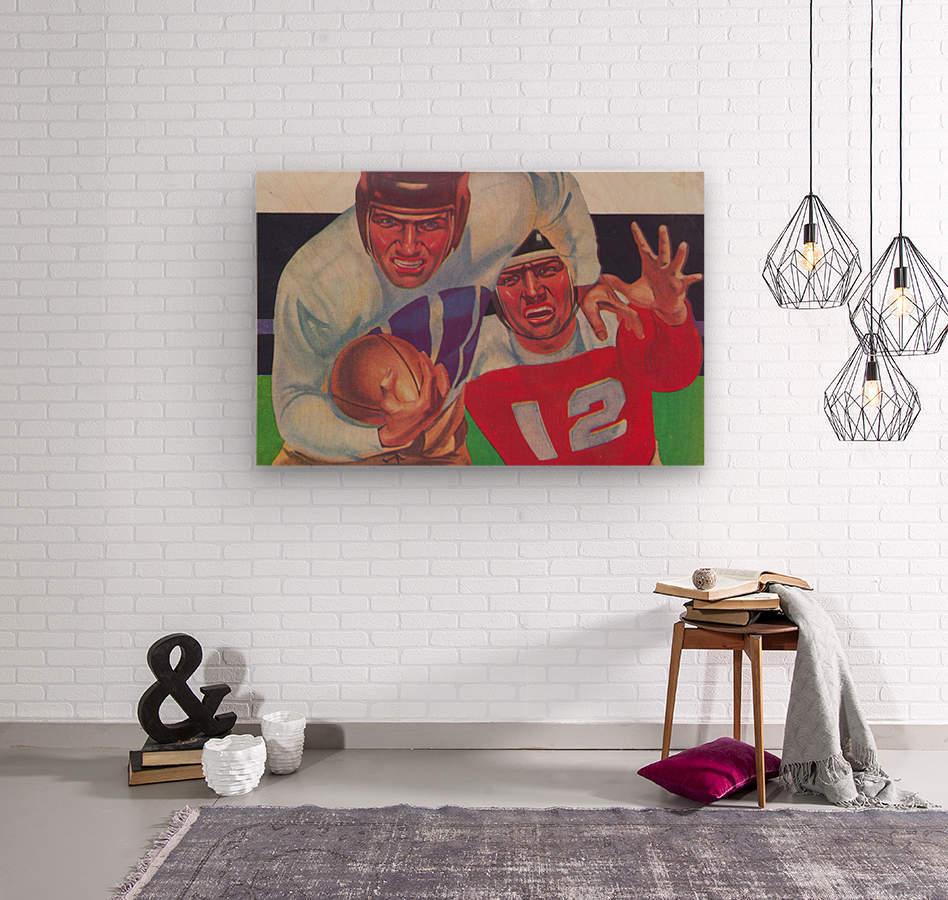 Vintage Football Fine Art Prints_ Old Football Art Poster  Wood print