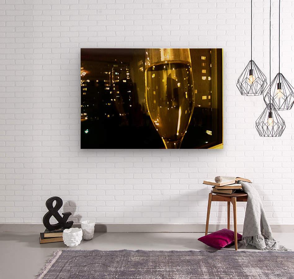 Champagne 4  Wood print