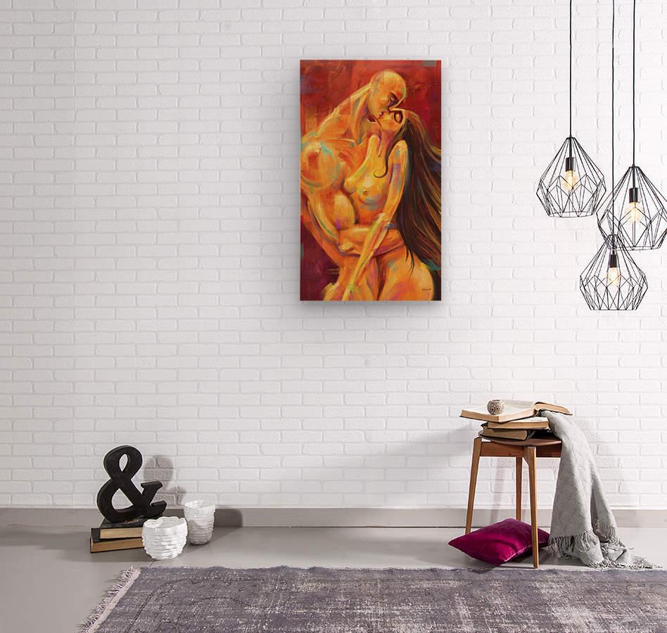 AMOR AMARILLO  Wood print