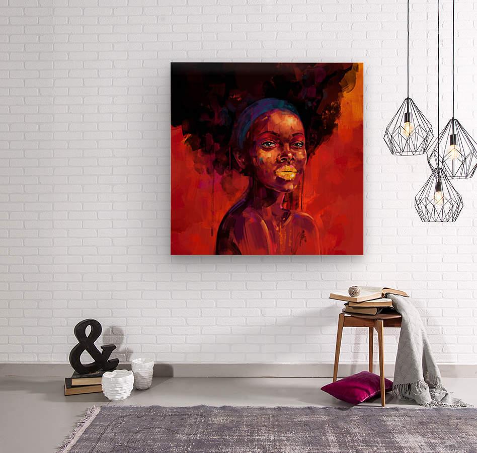 BELLEZA AFRO  Wood print