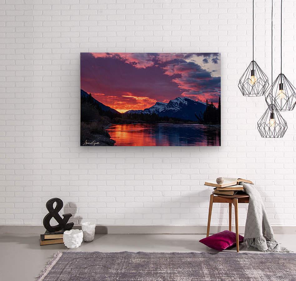 Bow River Sunrise East  Wood print