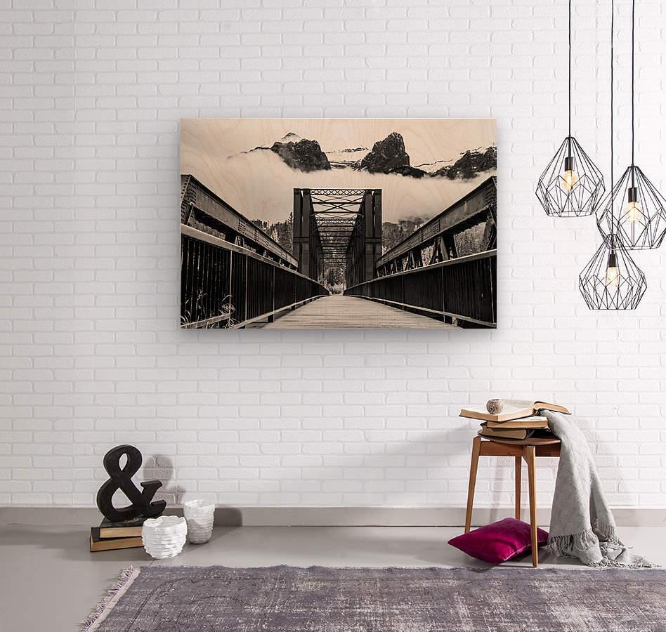 Canmore Iconic Engine Bridge  Wood print
