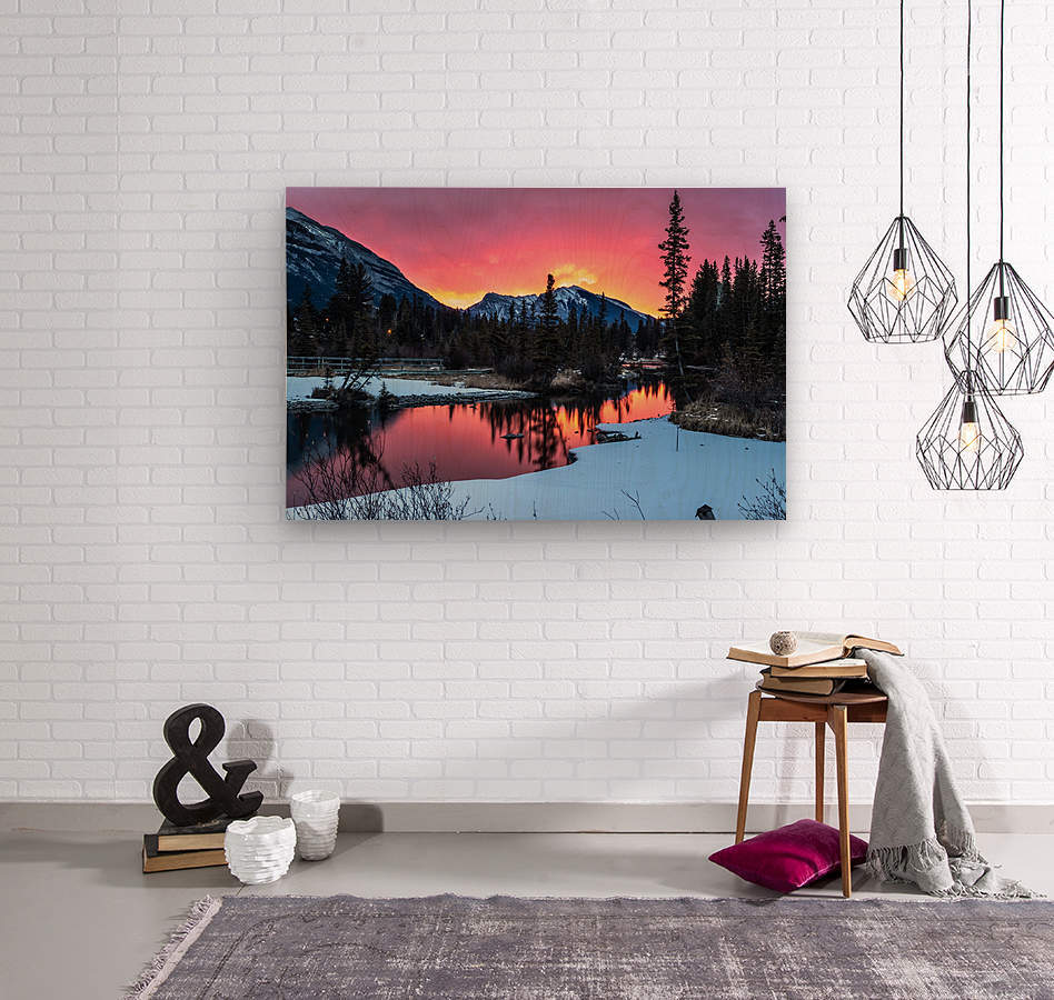 Sunrise At Policemans Creek Alberta  Wood print