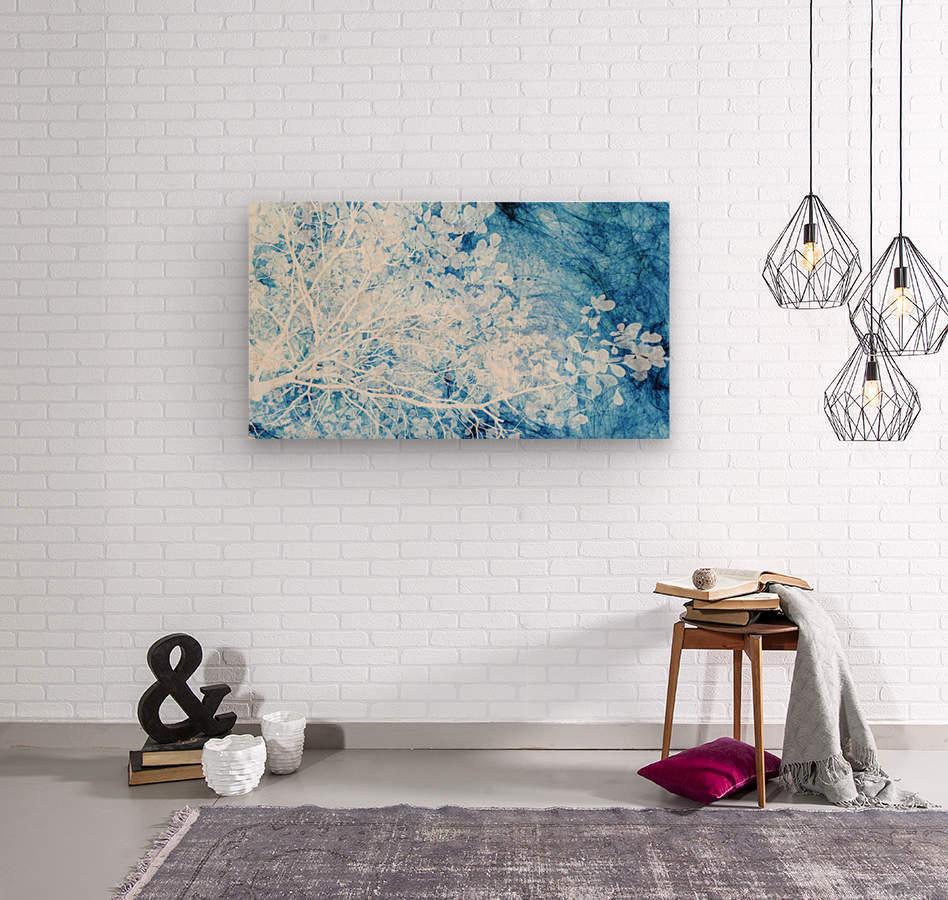 Indigo Dream  Wood print