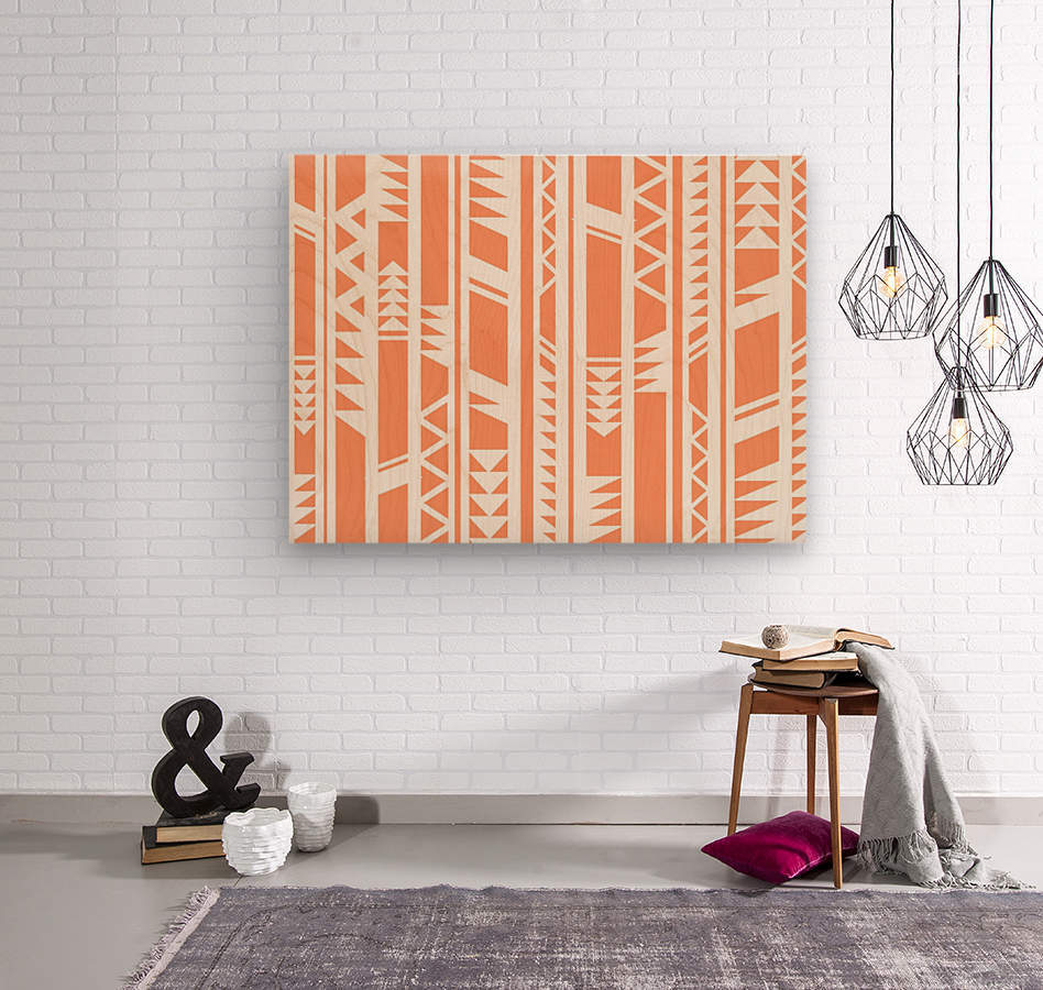 tribal pattern  Wood print