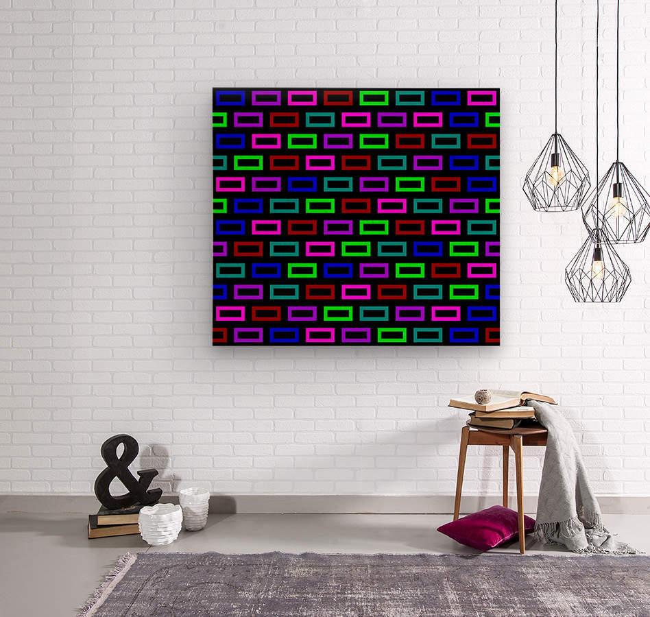 colourfulbrickspatterncolour  Wood print